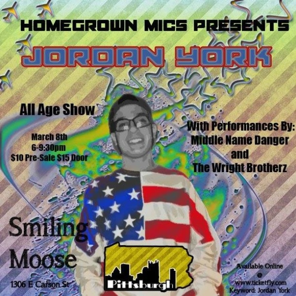 Saturday 6-9:30 All Ages @JordanYorkMusic @Midnamedanger @reppghhiphop #HomeGrownMics